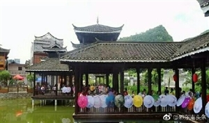 麻江高枧状元节现旗袍丽人
