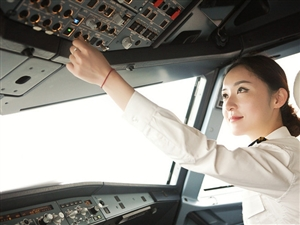 西部航空公司的最美女飞行员