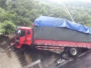 司机打瞌睡运猪货车冲下高速50头生猪死亡