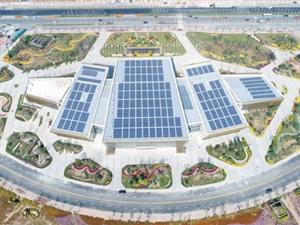 俯瞰荆门绿色生态科技产业城国际会展中心