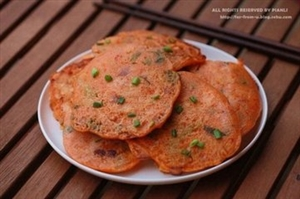 DIY海鲜泡菜饼:处理冰箱剩下的辣白菜