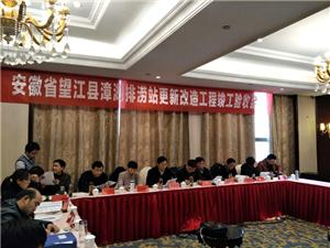 望江县漳湖排涝站更新改造工程通过竣工验收
