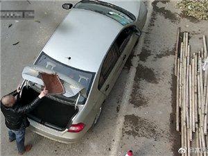 这个富顺司机躲监控用座垫挡号牌,结果反被监控抓正着