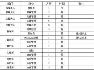 望江县公安局辅警招聘公告