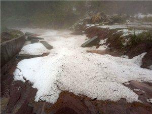 泸州叙永县刚刚下了冰雹,如汤圆般大小
