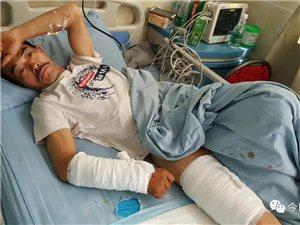 宜宾一48岁男子被200多斤重的黑熊攻击,鲜血直流!
