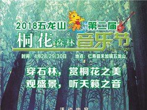 约吗?仁寿五龙山森林音乐节来了,穿石林,赏桐花,巴适!