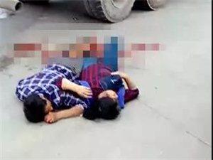 长宁马朝田一辆罐车与摩托车相撞,摩托车上两人受伤!