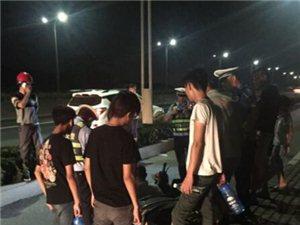 昨晚桐昆发生车祸,两电瓶车相撞