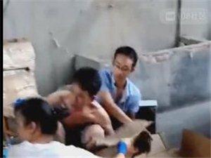 夹浦一工人上班中暑,当场晕倒