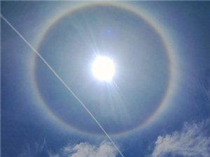 """泸州古蔺40.4℃热到""""日晕"""""""