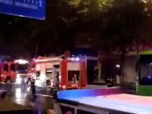 泸州龙马潭一建筑起火