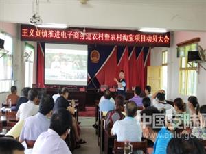 王义贞镇召开电子商务进农村动员大会