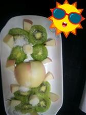 友友们来看看我做的水果拼盘