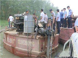淮河禁采!13艘违法泵船遭就地拆解!