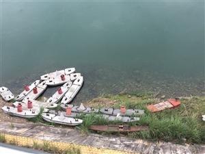 今天嘉陵江里飘来好多小船呀,这是做什么的...