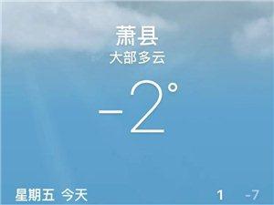 萧县-11℃,闹着玩吗?