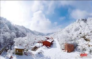宁强县汉江源景区,打卡最美雪景!