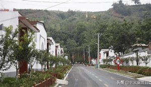 首山南坡的湛北乡北姚村,美丽的新农村