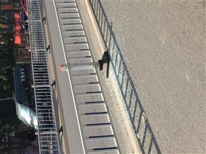 祥和园南边满地的碎玻璃,说是车撞在围栏上了