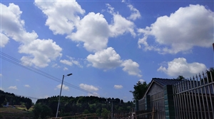 蓝天,白云,喝茶,晒太阳