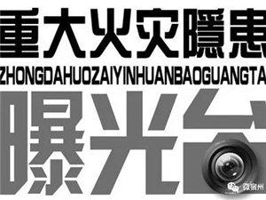 宿州市省级重大火灾隐患单位曝光