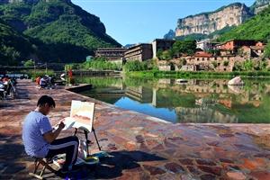 特色小镇-石板岩,23℃的平均温度成为绘画