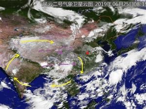 �脑�D看降雨云��行�M速度�^快,明天就可到�_我��中�|部,唐河明后天可能有中雨,局部大雨。