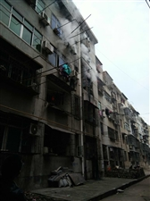 汉川大兴小区一居民楼发生火灾