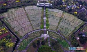 航拍全国最大红军烈士陵园 两万名烈士安眠