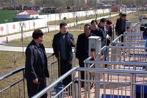 县长吕智临对南水北调配套工程建设和自备井关停工作进行调研