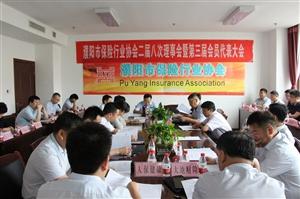 濮阳市保险行业协会圆满召开二届八次理事会第三届会员代表大会