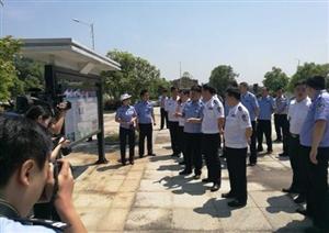 省公安厅袁友方视察宁乡县农村交通安全教育工作