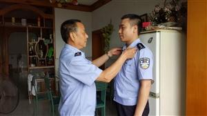 蓬溪县:以父亲为标杆走上从警之路 6岁儿子希望长大后也能做警察