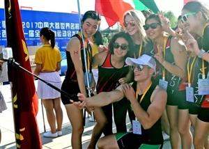 同州湖龙舟赛给国内外运动员和游客留下美丽的倩影和记忆!