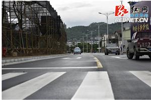 张家界市城区观音大桥南岸匝道建成通车