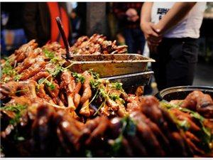 府谷街头夜市美食图片