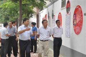 市委组织部副部长带队到人民办观摩指导党建工作