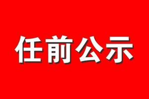 中共永春县委组织部关于陈金灿等同志任前公示的公告