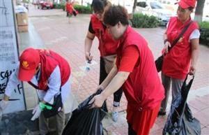 安新县爱心公益志愿者协会助力雄安创城