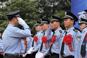 增强荣誉感 西充举行民警职业荣誉仪式