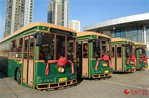 """天津最美公交!首批新能源""""铛铛车""""上线运营"""