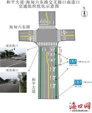 海口司机注意!这条路左转和掉头移至中间车道