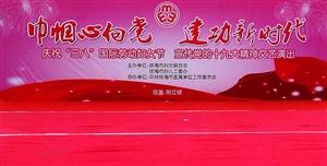 """巾帼心向党 建功新时代 庆祝""""三八""""国际妇女节 宣传党的十九大精神演出在阳江镇举行"""