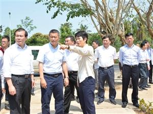 何琼妹率市四套班子领导调研博鳌亚洲论坛年会服务保障重点路段环境综合整治工作