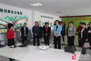 省妇联主席、党组书记张惠一行到博昌街道社会组织孵化中心调研指导