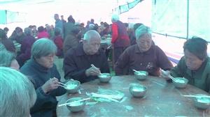 高邑县北关举办孝亲敬老饺子宴,孝老尊亲,传统美德!