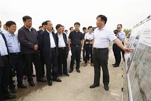 西咸新区省市领导调研沣西新城渭河治理工程创新港段