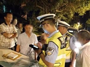 蓬溪交警连续三个晚上严查酒驾毒驾