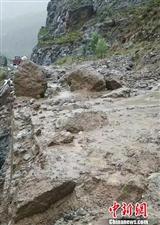 泥石流致川藏公路318国道西藏仁布段交通中断